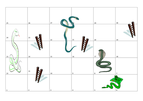Snakes and aaa pinterest snake for Make your own snakes and ladders template
