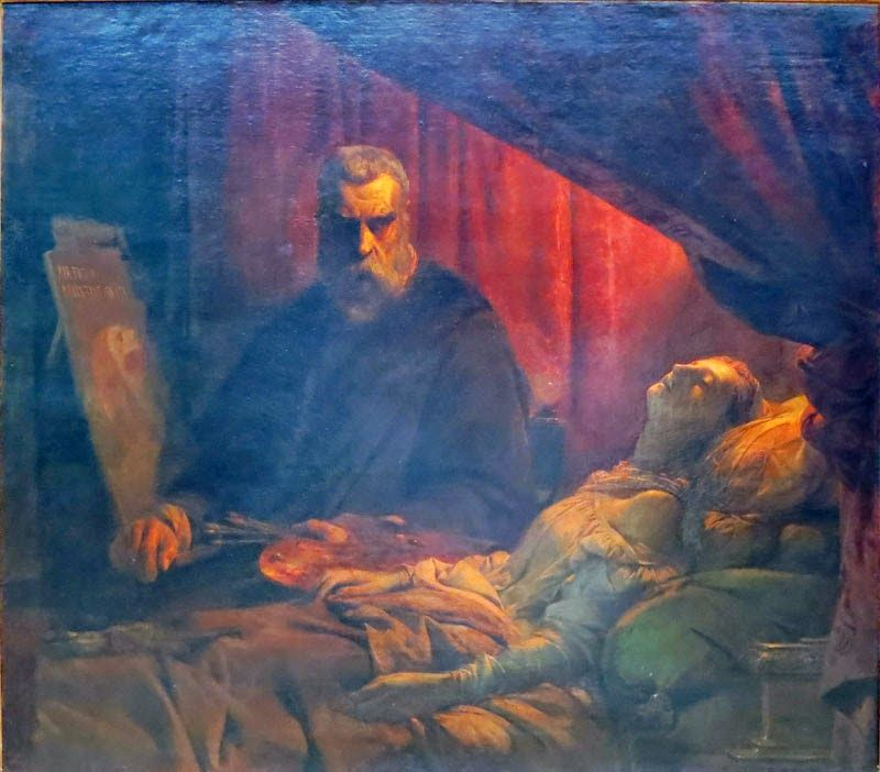 l on cogniet le tintoret peignant sa fille morte 1843. Black Bedroom Furniture Sets. Home Design Ideas