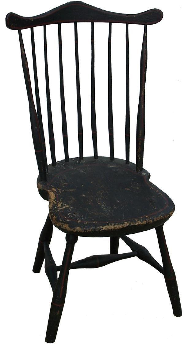 C1790-1800 ~ 7 spindle fan-back Windsor Chair....~♥~ http://www ...