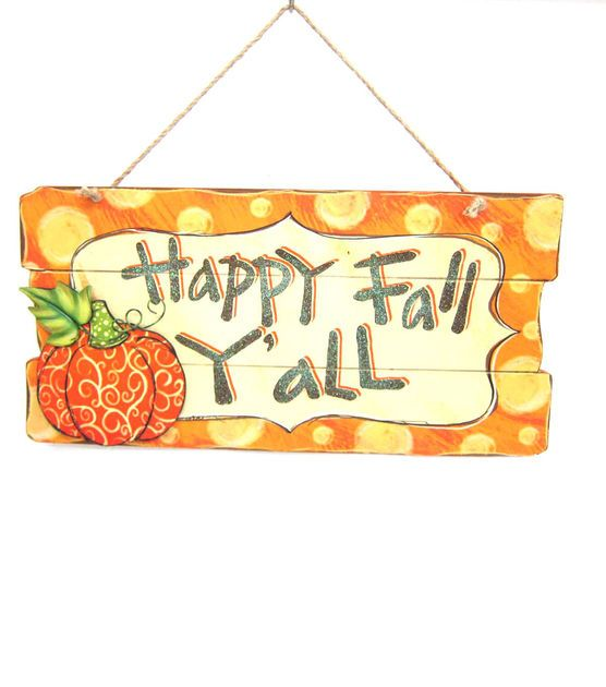 Fall Yall Wall Plaque