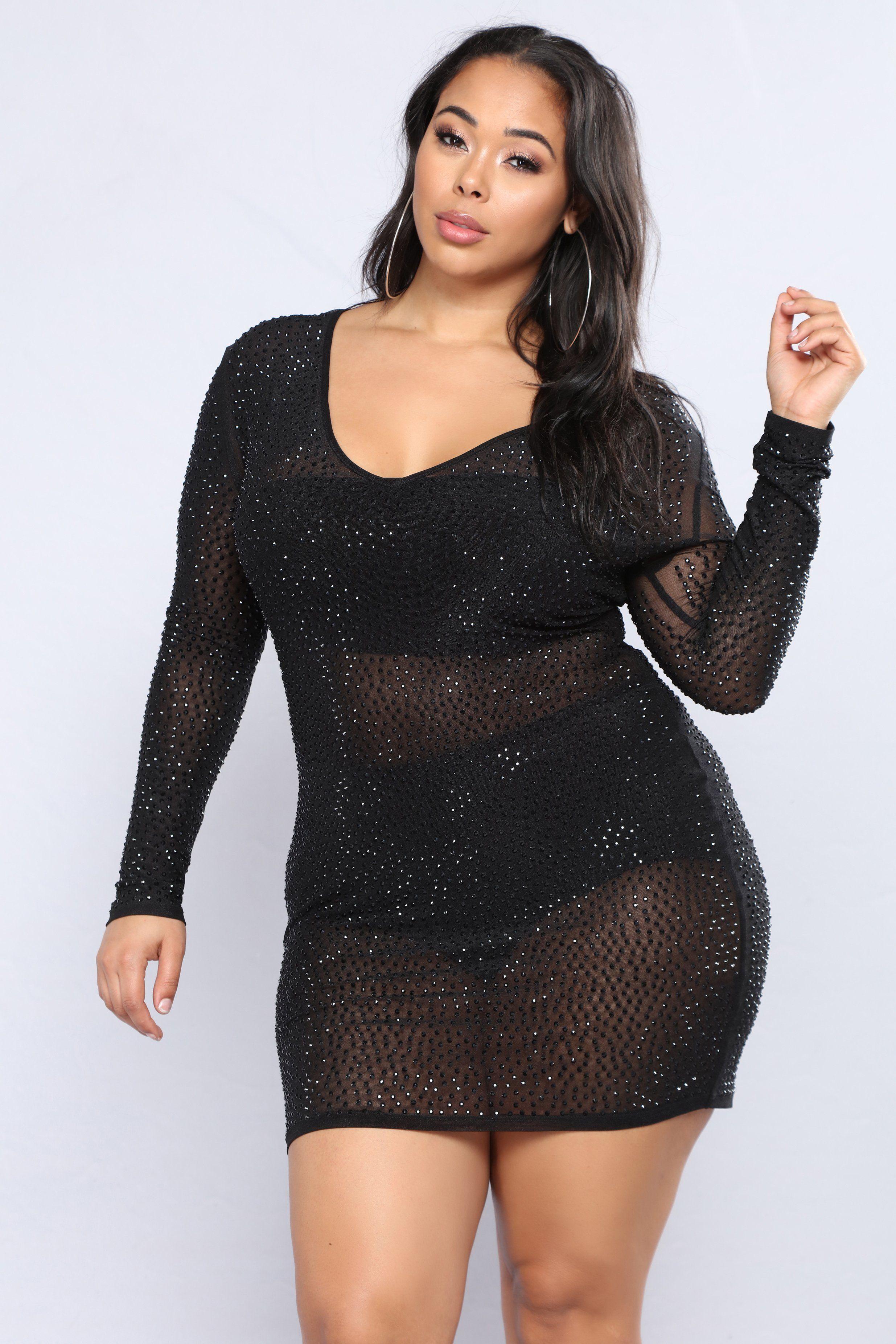 Isabela Rhinestone Dress Black Black In 2021 Plus Size Cocktail Dresses Curvy Fashion Fashion [ 3704 x 2470 Pixel ]