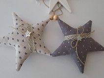Weihnachtsbaumschmuck Sterne Landhaus grau