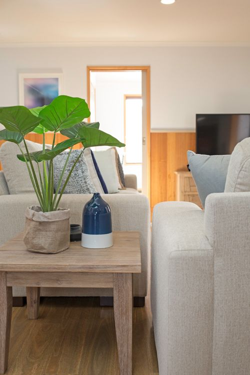 Family Room Lounge Room Faux Indoor Plant Side Table Styling