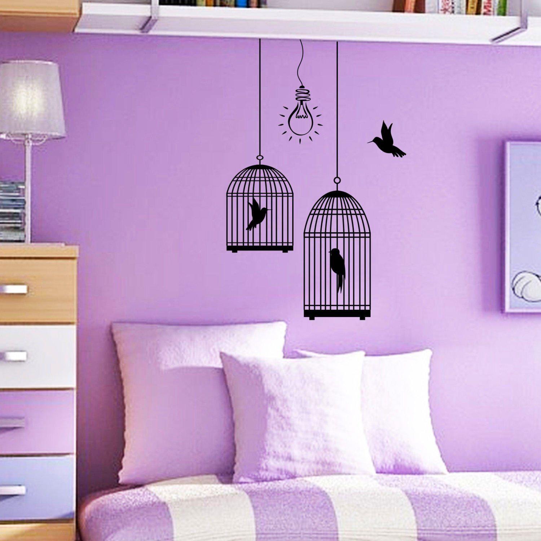 Lila Und Weißer Raum, Malerei   Schlafzimmer