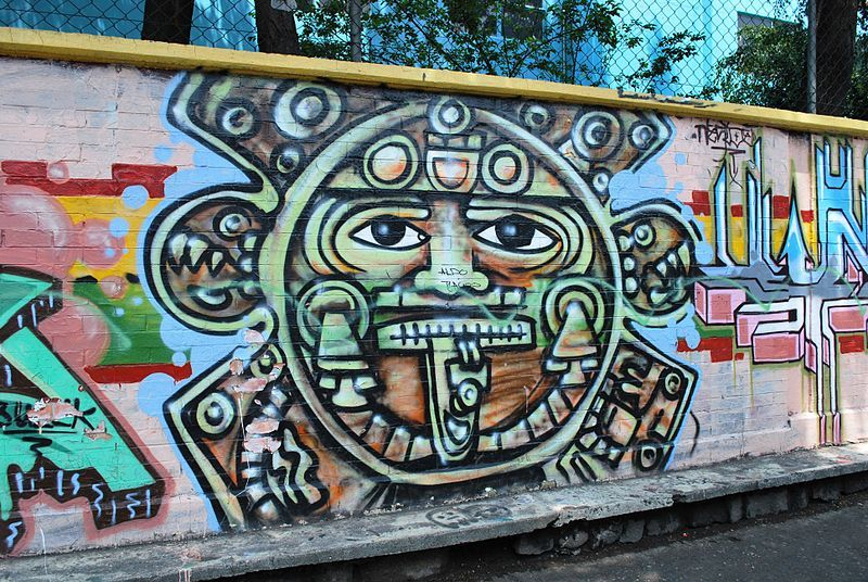 Mexico city photo by gregory schick graffiti pinterest for Aztec mural painting