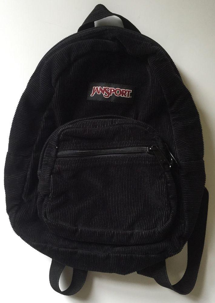9406cc54dc86 Jansport Black Corduroy Mini Backpack  JanSport  Backpack