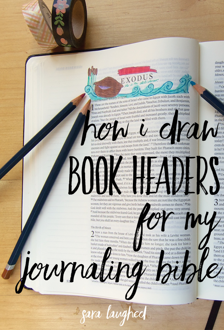 How I draw book headers for my journaling Bible