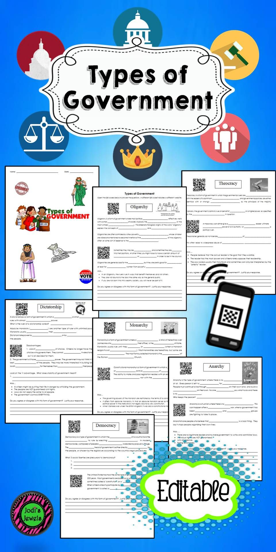 types of government qr code activity qr codes worksheets and activities. Black Bedroom Furniture Sets. Home Design Ideas