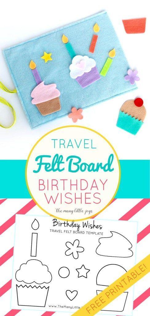 Travel Felt Board  - birthday wish template