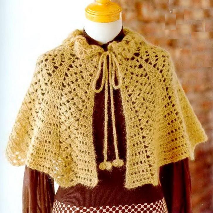 Crochet Shawls: Women\'s Crochet Cape for Winter | Julia elena ortiz ...