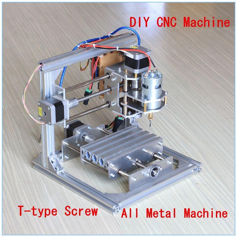 T Tipo Tornillo Pcb Fresadora Cnc Arduino Diy Cnc Talla De Madera Mini Máquina De Grabado Pvc Molino Grabador De Apoyo Grbl Control Diy Cnc Grabadora Laser Cnc
