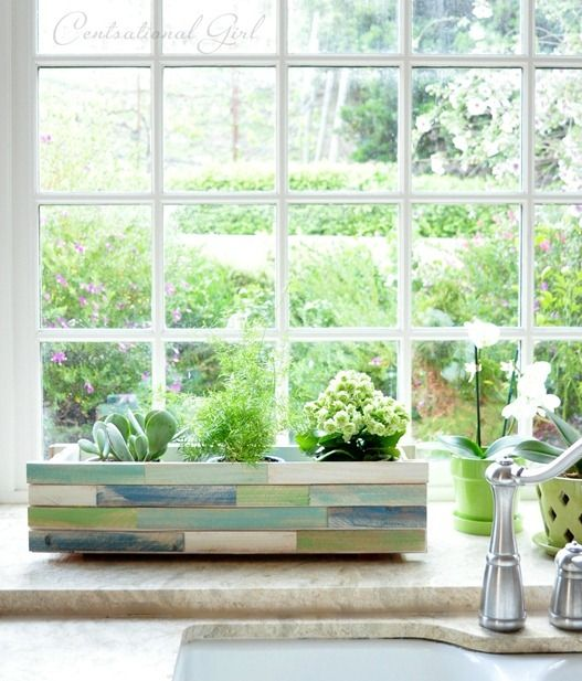 Wonderful Wood Shim Window Box Planter | Centsational Style