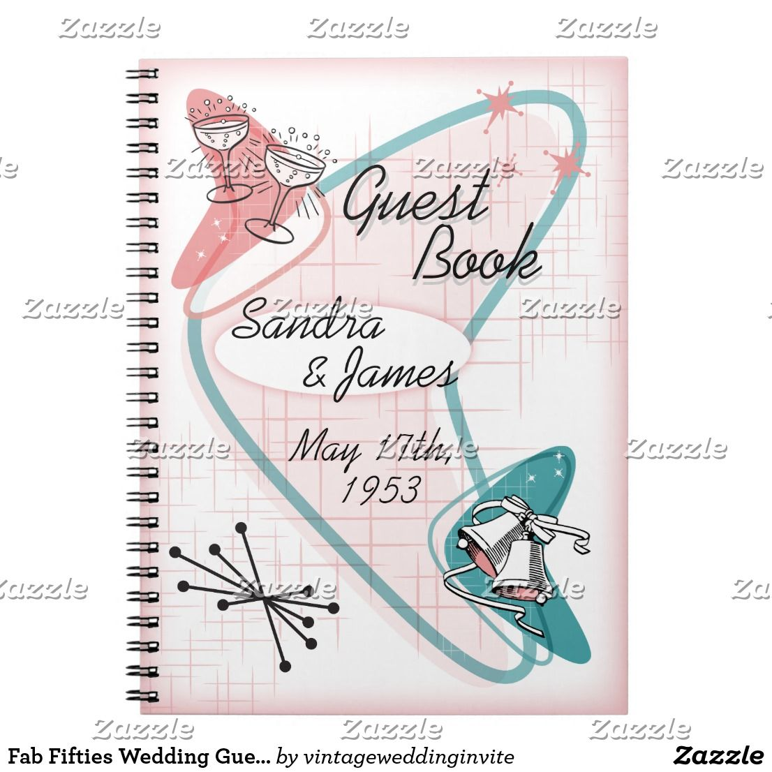 Fab Template: Fab Fifties Wedding Guest Book Template In 2019