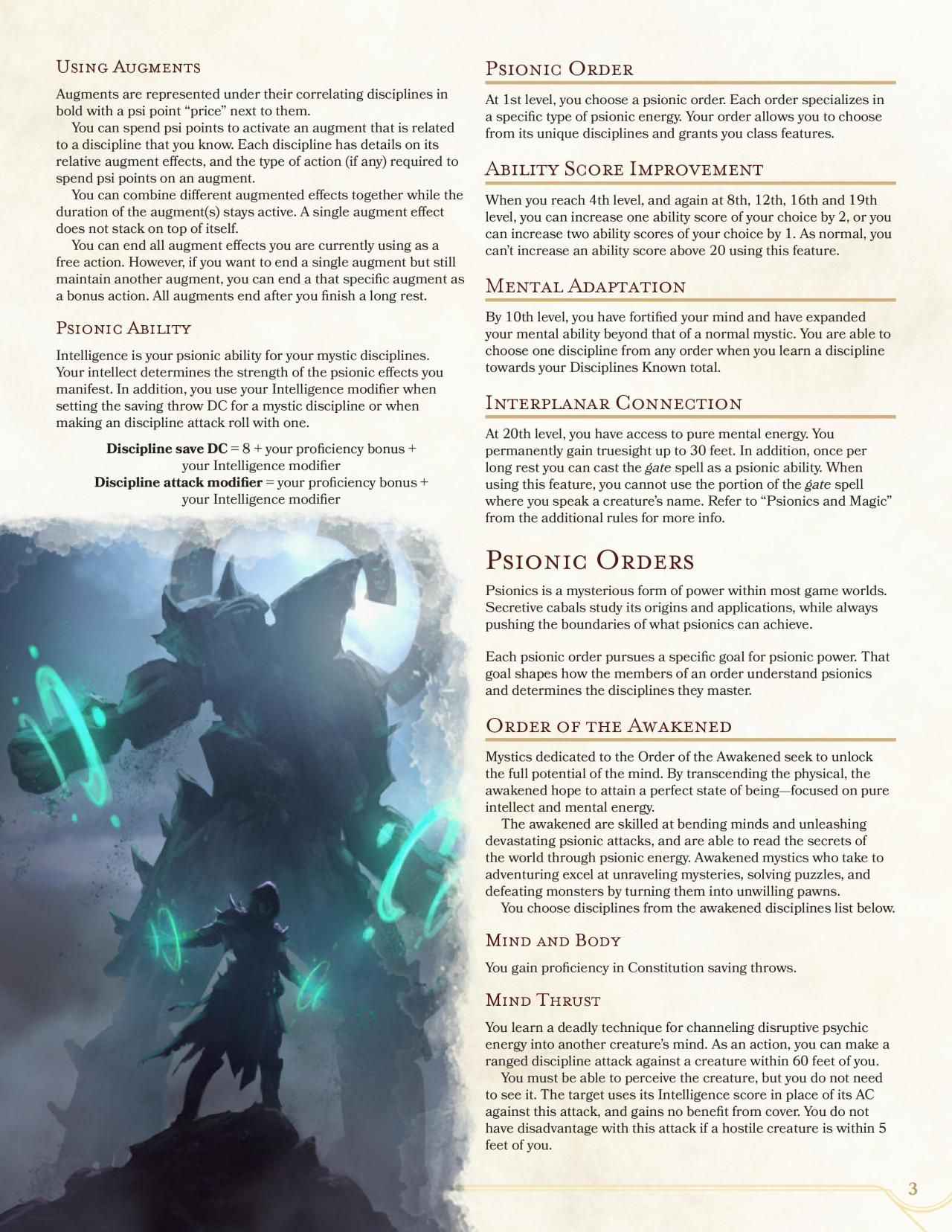 DnD 5e Homebrew — Mystic Continuation by dalagrath | D&D
