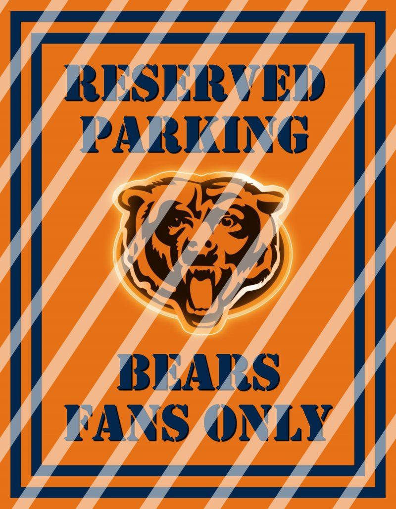 Chicago bears parking wall decor sign 5 instant downloadprint chicago bears parking wall decor sign 5 instant downloadprintframed amipublicfo Choice Image
