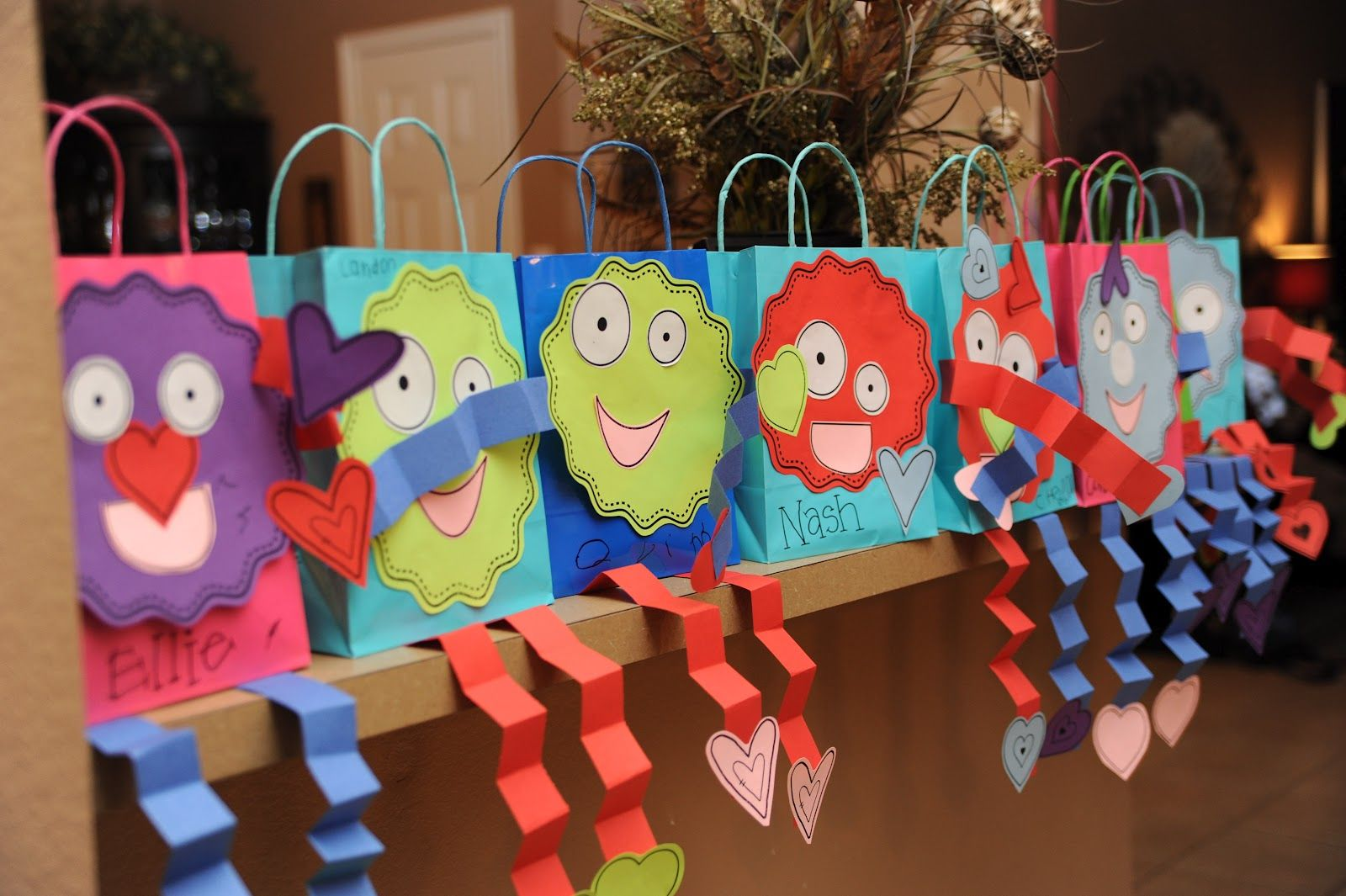 Pinterest Education Ideas My Boys Handed Out These Valentines Thank God For Pinterest I Kindergarten Valentines Valentines Day Bags Preschool Valentines