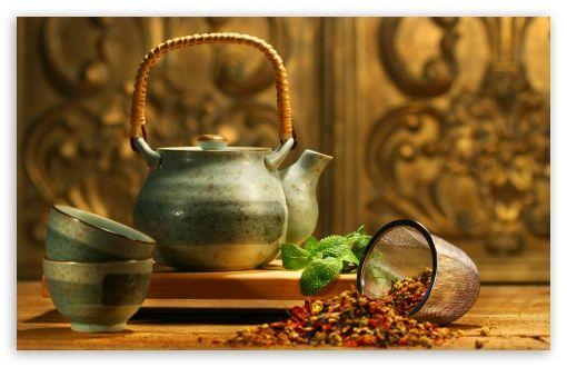 Tea Wallpaper For Standard 4 3 5 4 Fullscreen Uxga Xga Svga Qsxga Sxga Wide 16 10 5 3 Widescreen Whxga Wqxga Wuxga Wxg Tee Trinken Teekanne Pflanzenheilkunde