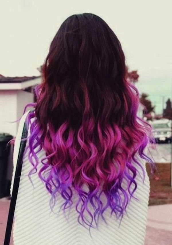 New hair color black purple dress