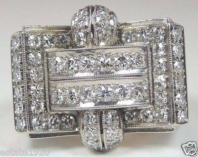 Antique Diamond Platinum Art Deco Engagement Ring Re 534 Shops Antiques And Art Deco