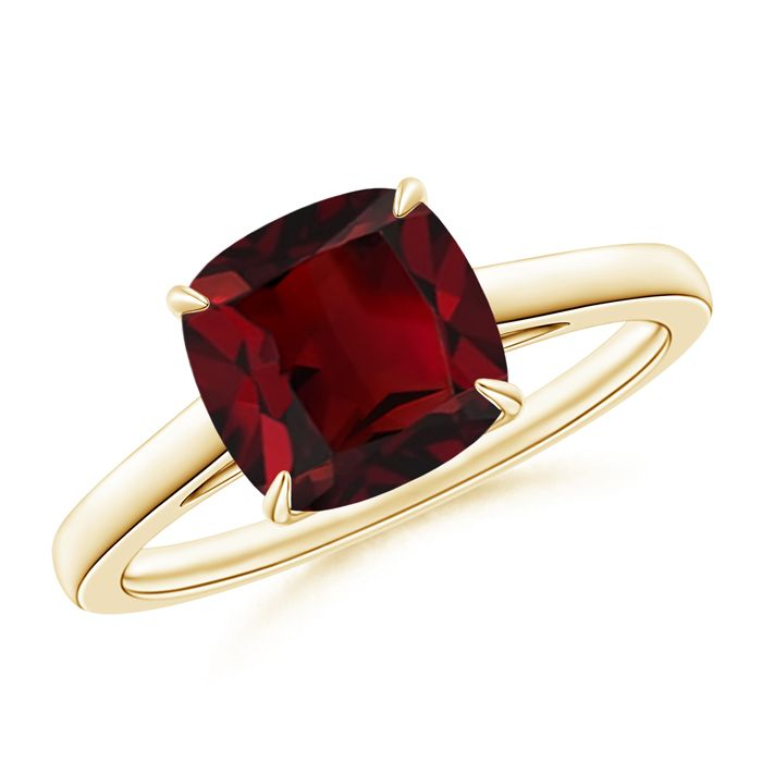 Angara Garnet Cocktail Engagement Ring in Yellow Gold Zh9Bh31oG4