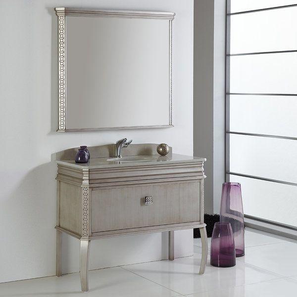 Fresca Platinum London 40 Inch Antique Silver Bathroom Vanity W Fair 40 Inch Bathroom Vanity Design Ideas