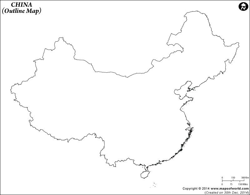 China Outline Map  2nd Grade History  Pinterest  China and School