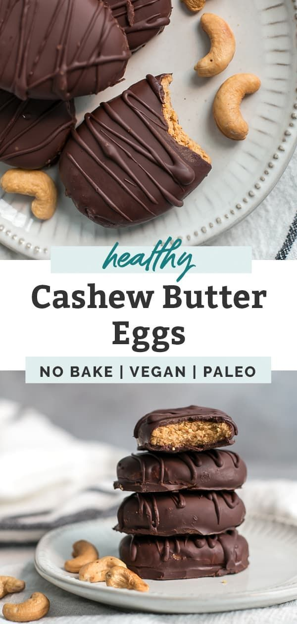 Photo of Healthy Cashew Butter Eggs [paleo & vegan] • Fit Mitten Kitchen