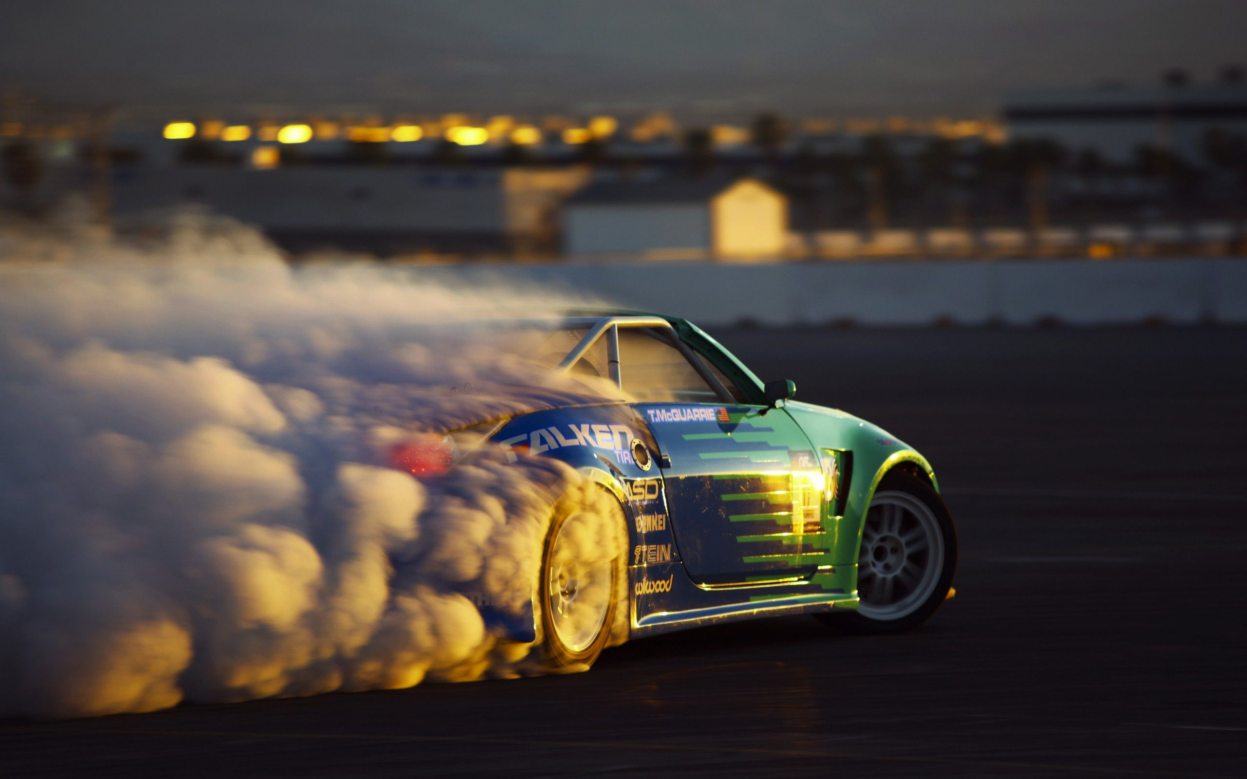 Image Detail For Car Drift Sunset Burnout Hd Wallpapers