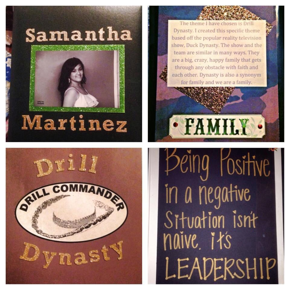 Drill dynasty theme I created for Drill team Officer tryout binder.