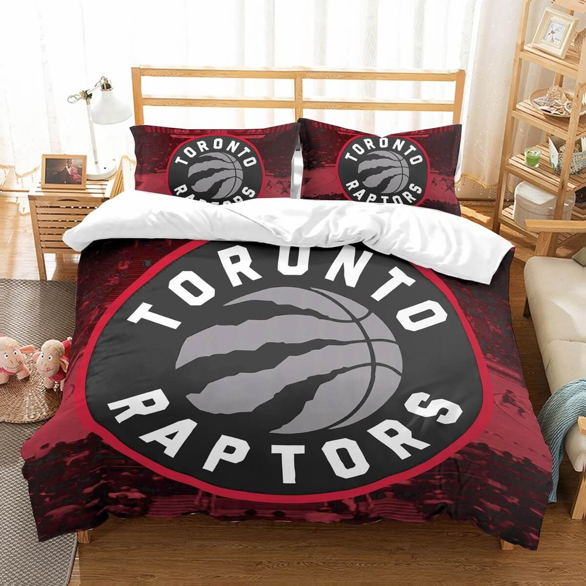 3D Customize Toronto Raptors Bedding Set Duvet Cover Set Bedroom Set ...