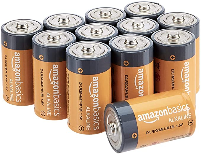 Amazon Com Amazonbasics D Cell 1 5 Volt Everyday Alkaline Batteries Pack Of 12 Packaging May Vary El Alkaline Battery Battery Pack New Electronic Gadgets