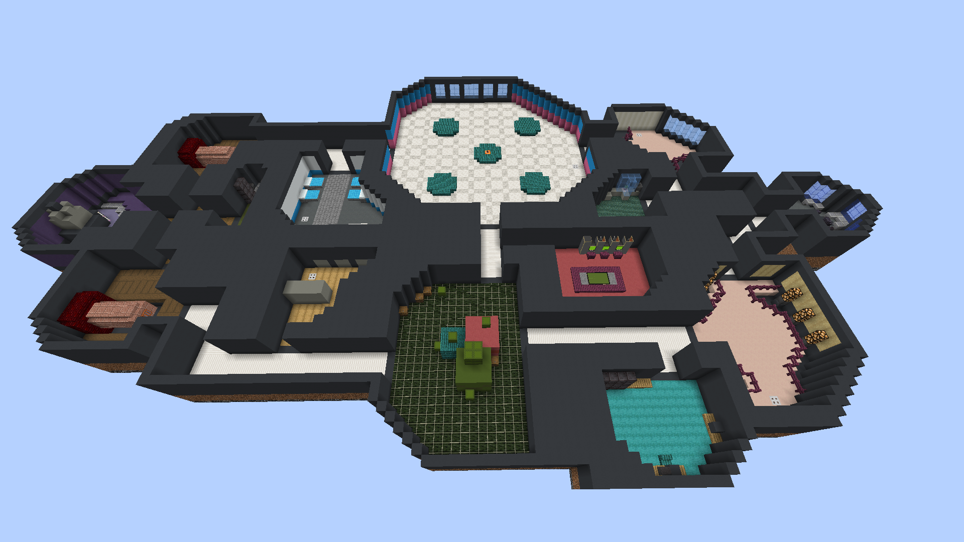 To Scale Replica Of The Amung Us Map By U Toastbutt2 Us Map Minecraft Designs Map Minecraft