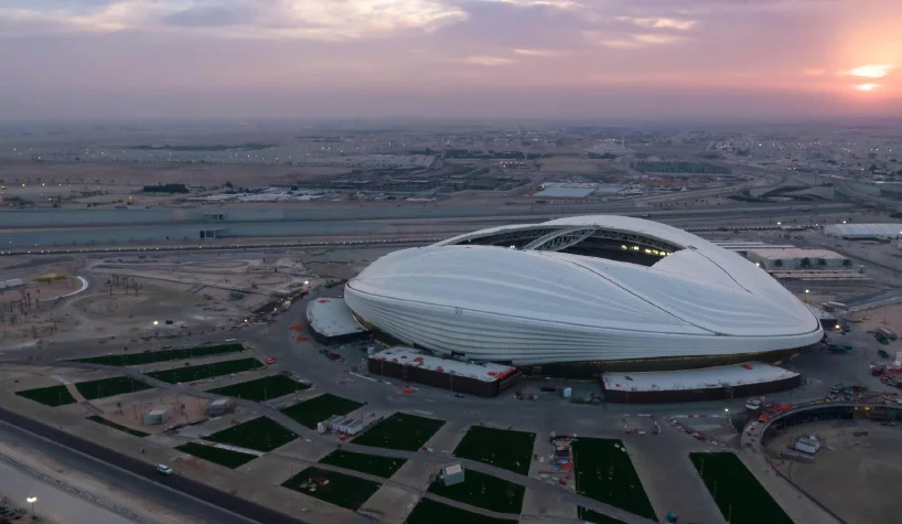 Zaha Hadid S Al Wakrah Stadium Opens In Qatar Ahead Of 2022 World Cup Zaha Hadid Zaha Hadid Architects Stadium Design