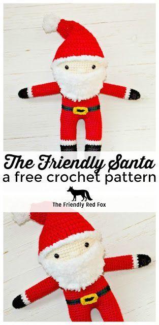 Free Crochet Santa Pattern Crochet Amigurumi Stuffs Pinterest