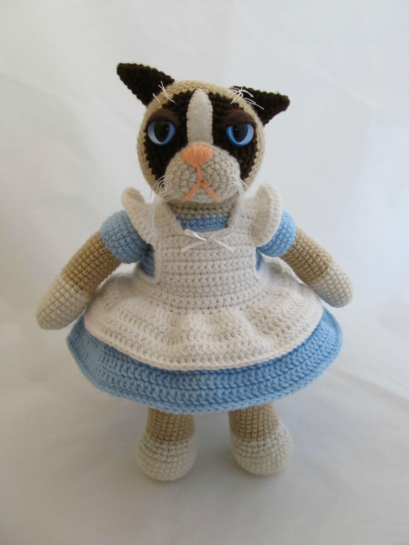 Grumpy Cat in Alice Dress by ScuzzBunny via Reddit - She ...