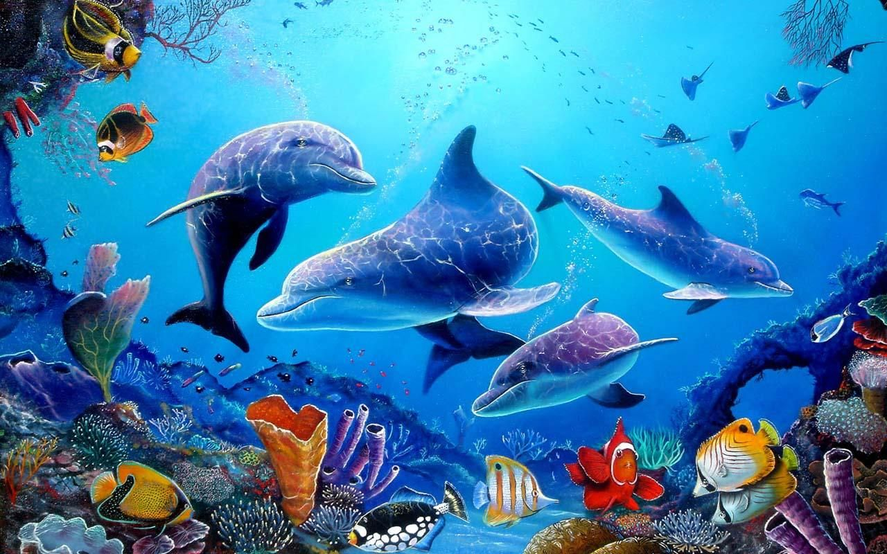 Download Wallpaper Aquarium 3d Bergerak Images Hewan Lucu