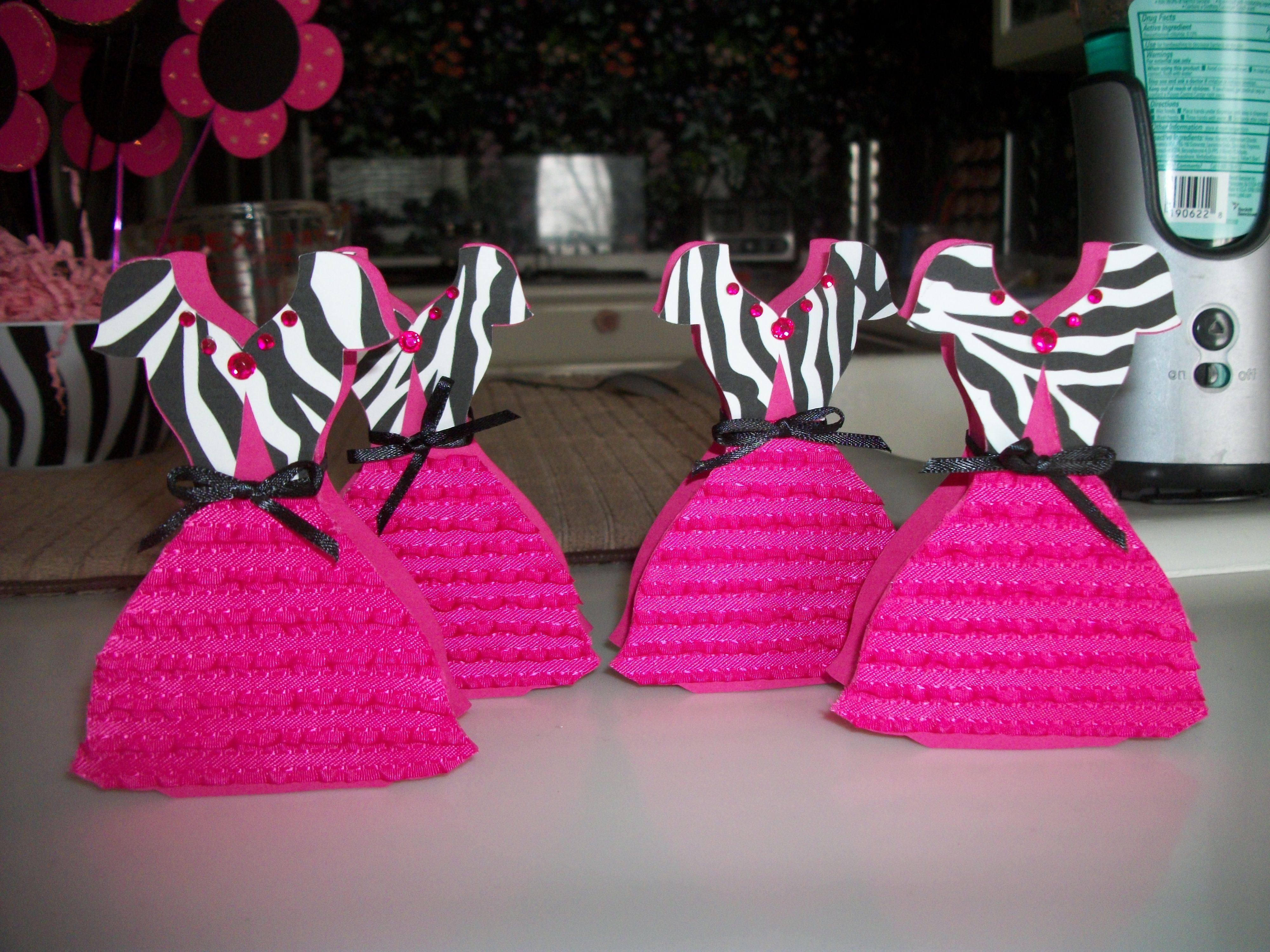 dress lipstick box   pink and zebra themed birthday party