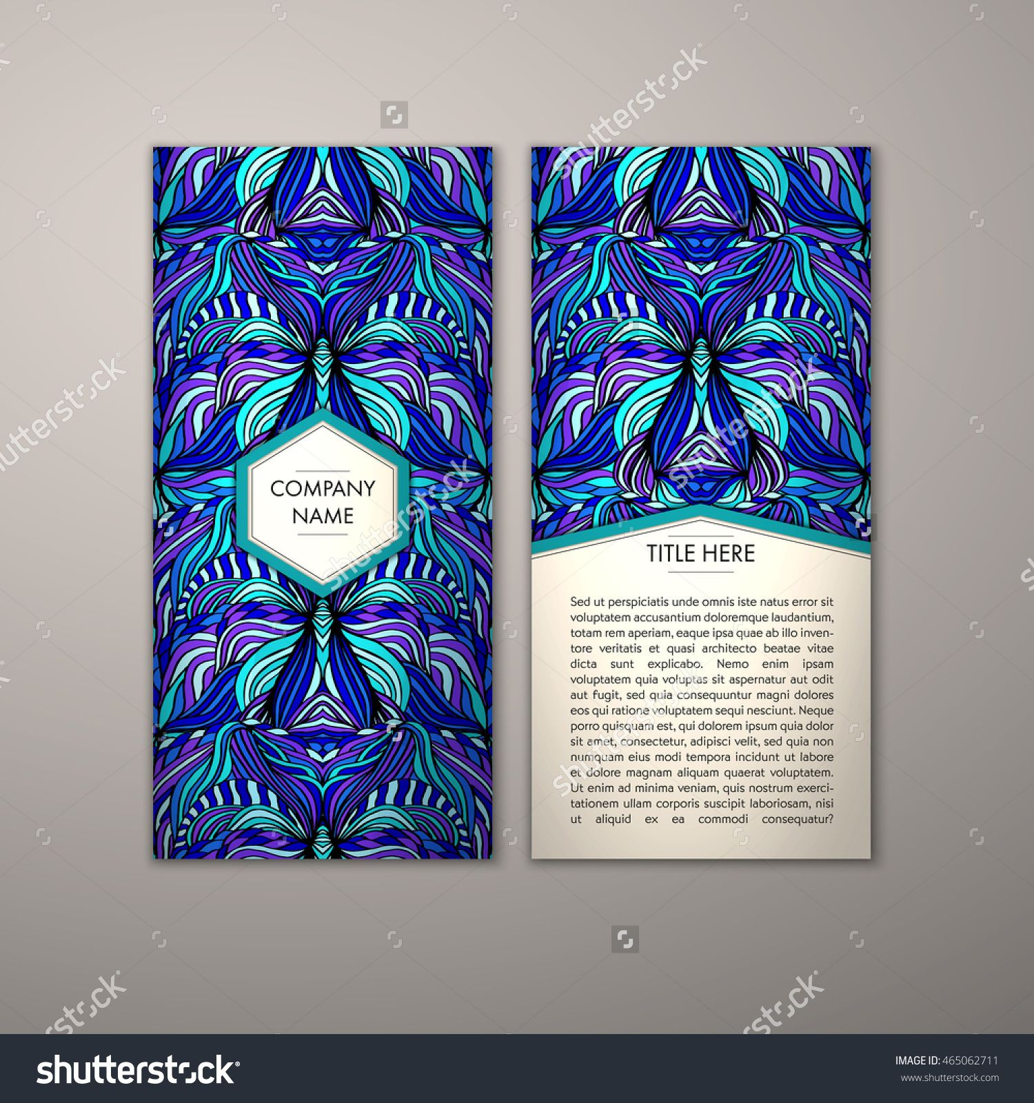 Flyer template with abstract ornament pattern vector greeting card flyer template with abstract ornament pattern vector greeting card design front page and back page m4hsunfo