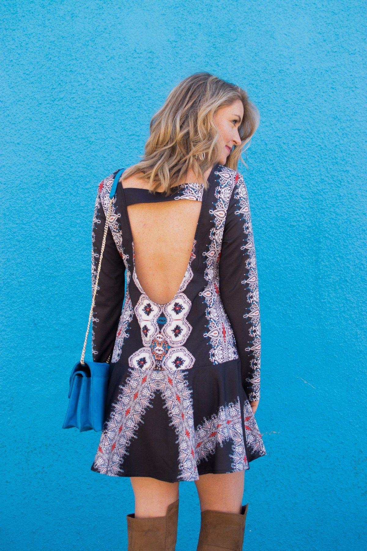 backless boho dress | Estilo.... | Pinterest | Boho, Blue suede and ...