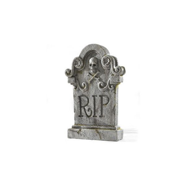 RIP Gravestone 40 Liked On Polyvore Featuring Home Home Decor Gorgeous Home Accents Halloween Decorations