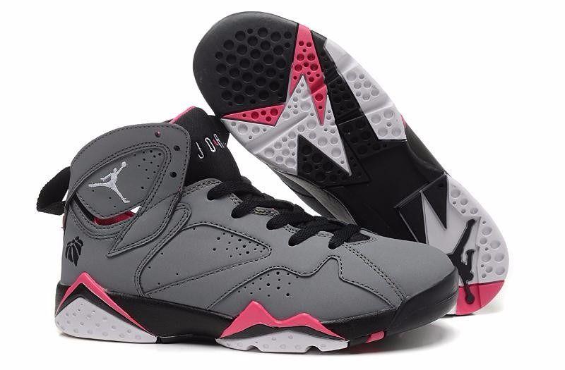nuevos-air-jordan-7-gris-negro-rosado-para-