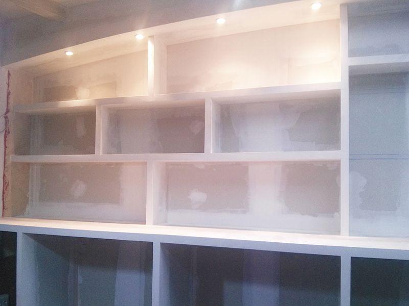 Mueble de pladur realizado con placa de trillaje - Placa de pladur ...