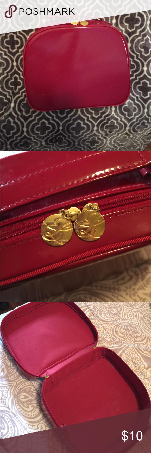 Estée Lauder Bag Red and gold Estée Lauder Case! Can be