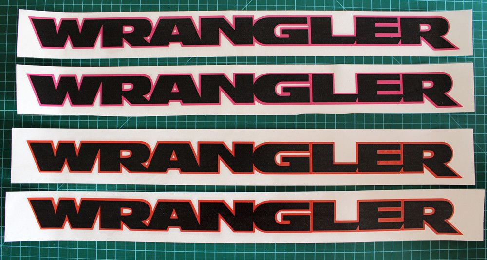 "4.5/"" FUEL Decals for JEEP CJ TJ YJ MILITARY WRANGLER RUBICON 3pcs 7/"" WILLYS x2"
