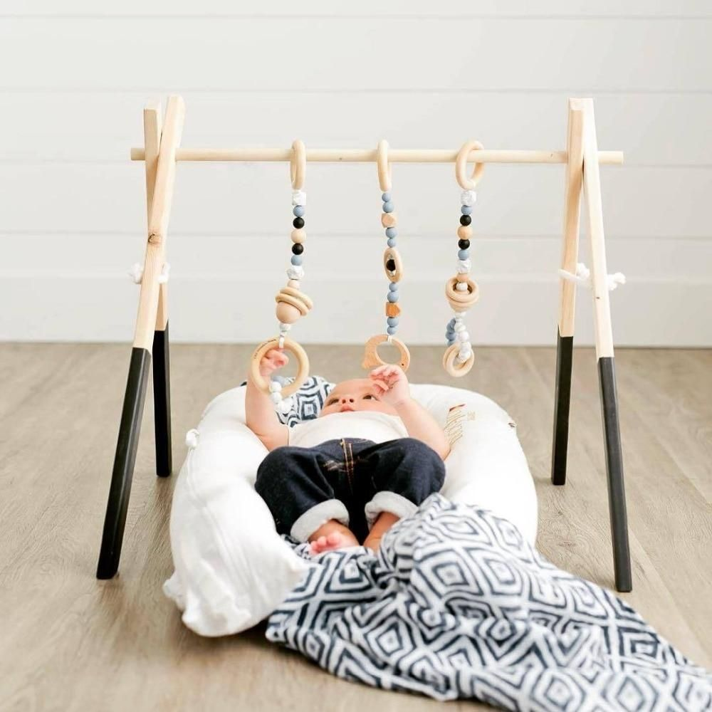 Wood baby toys Montessori baby gym Amelia wooden baby gym White baby gym Scandinavian gym