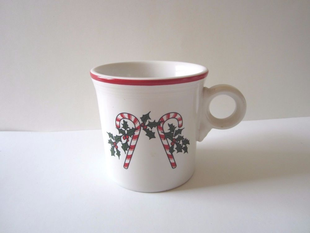 FIESTA Candy Cane Ring-Handled Mug RARE -from Bon-Ton Stores 2004 & FIESTA Candy Cane Ring-Handled Mug RARE -from Bon-Ton Stores 2004 ...