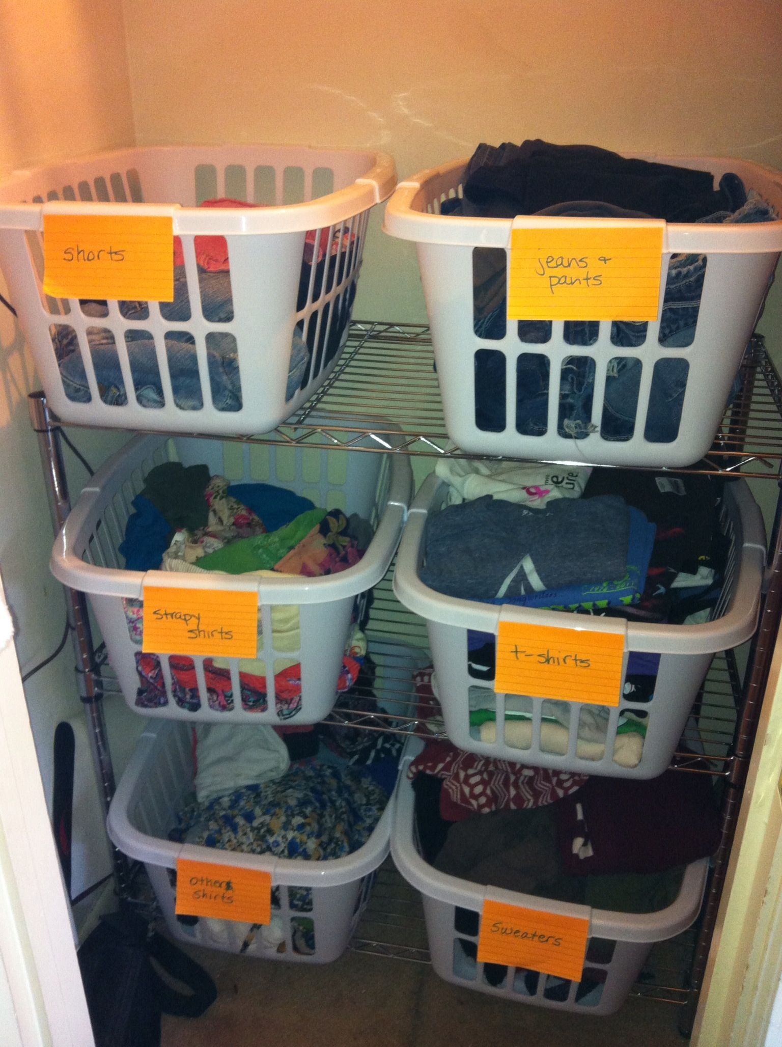 This is a great alternative to a dresser By using an inexpensive