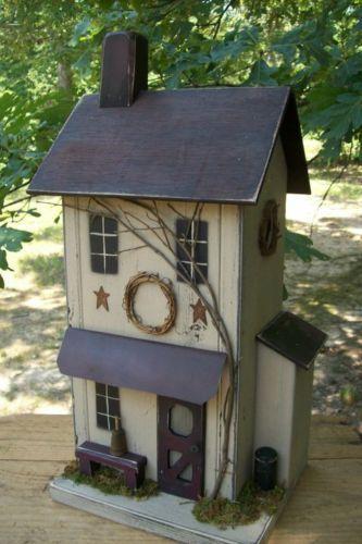 prim birdhouse. I love this birdhouse❤