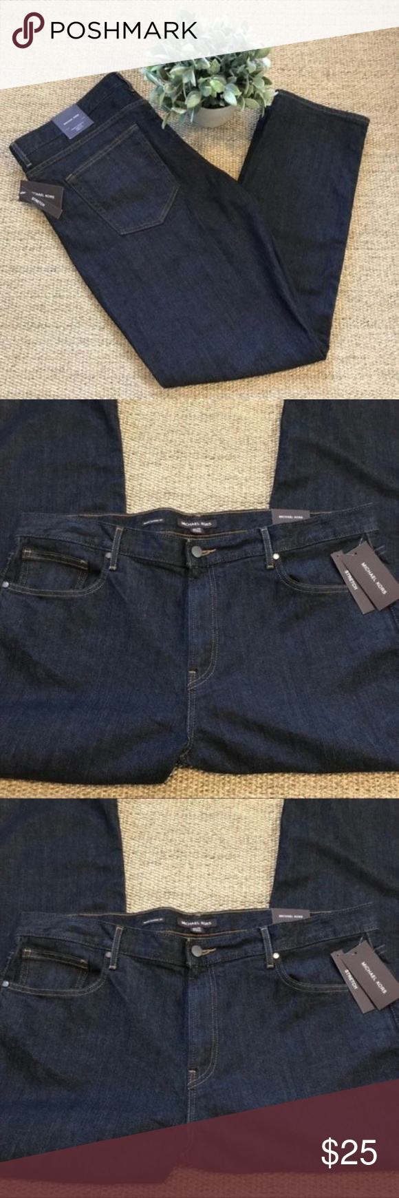 e1080f40ce19 Michael Kors Black Wash Grant Classic Fit Jeans Brand New!! Awesome ...