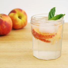 Just in time for summer, this ginger-peach soda is perfect as is or with a splash of rum!